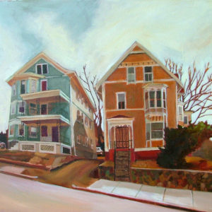 Halsey Street | Oil, 25in x 22in