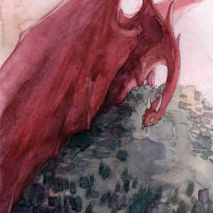 The Hobbit | watercolor, 8in x 12in | sold