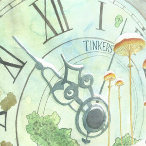 Tinkers   watercolor, 22in x 7.5in